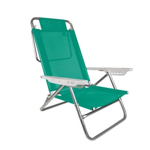 Reposera Silla Summer 6 Posiciones Mor Color Verde