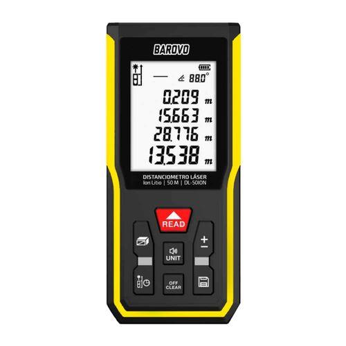 Distanciómetro Medidor Laser Barovo 50mt Batería Ion-litio