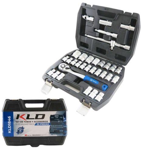Set De Tubos Y Accesorios Kld 32 Piezas 1/2mm Con Maletin