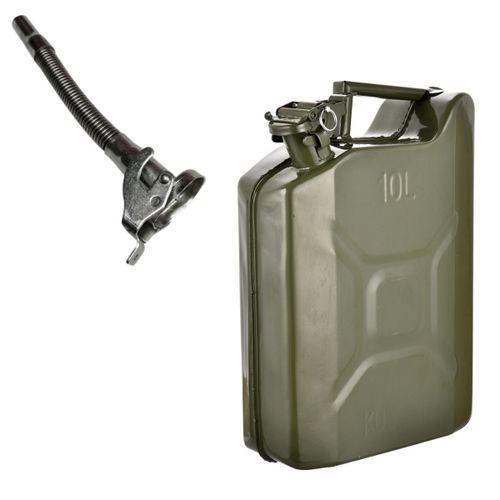 Bidón Combustible Metalico Chapa 10litros con Pico Vertedor